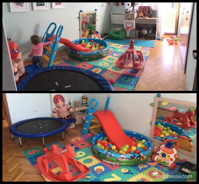 Η συγκοίμηση στην βασικη κρεβατοκάμαρα έχει το παράπλευρο όφελος ότι περισσέυει ξαφνικά χώρος για playroom!